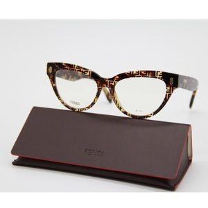 NEW FENDI Eyeglasses FF 0443 2VM Havana FF0443